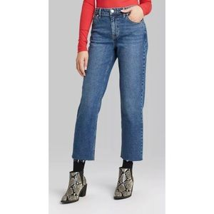 NWT Wild Fable High Rise Straight Ankle Jeans